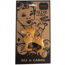 Olive the deer chwable bracelet Oli & Carol in natural rubber