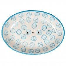 OLLO soap dish in hand-painted glazed ceramic