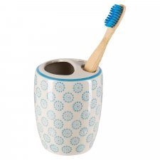 OLLO toothbrush holder in hand-painted glazed ceramic