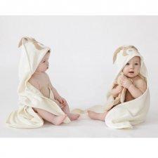 Bunny-organic cotton baby bath towel with hood