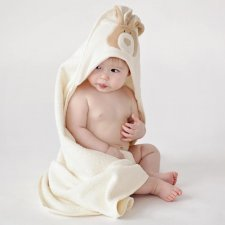 Bunny-organic cotton baby bath towel with hood