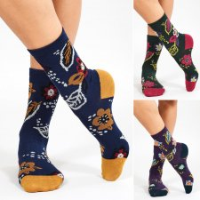 Organic Cotton Floral Socks