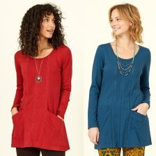 Organic Cotton Pintuck Pocket Tunic