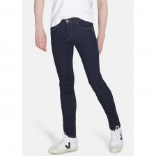 Organic man skinny Jeans in Rinse wash