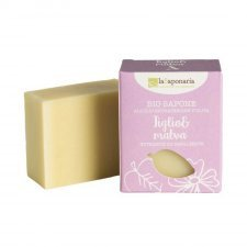 Organic oil solid soap with lime and mauve