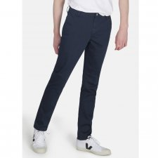 Organic Sateen Chino Trousers in Navy