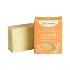 Organic solid soap with orange and cinnamon