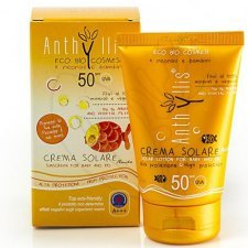 Organic sunscreen for baby Anthyllis high SPF 50 protection