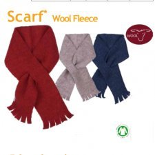 Organic wool fleece scarf Popolini