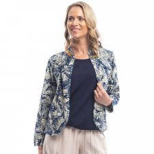 CANARY ISLAND jacket in cotton, linen and natural viscose
