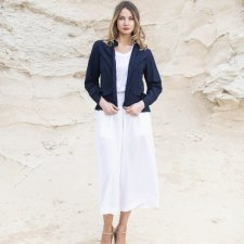 Orientique jacket in linen, cotton and natural viscose