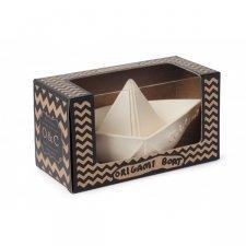 Origami boat Oli & Carol in natural rubber