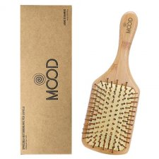 Rectangular wooden hairbrush