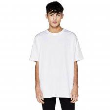 Oversize unisex short-sleeved shirt in organic cotton - white
