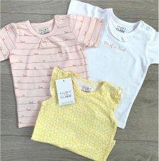 Pack 3 magliette Alina per bambina in Cotone