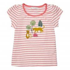 Maglietta Leopardo per bambina in cotone biologico