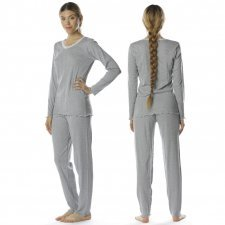 Pajamas Grey in natural cotton