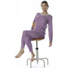 Pajamas Lilac in natural cotton