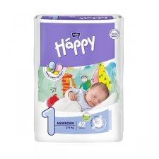 Pannolini Happy BellaBaby - 1 Newborn 2/5kg 42 pezzi