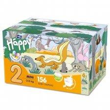 Pannolini Happy BellaBaby - 2 Mini 3/6kg Box 156 pezzi