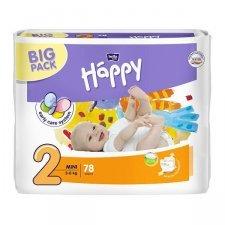 Pannolini Happy BellaBaby - 2 Mini 3/6kg 78 pezzi