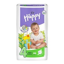 Pannolini Happy BellaBaby - 4 Maxi 8/18kg 46 pezzi