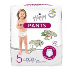 Pannolini Mutandina Happy - 5 Junior 11/18 kg 22 pz