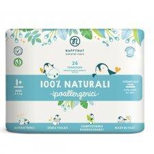 Pannolini Nappynat Biodegradabili 1+ Mini 2/6 kg 26 pezzi