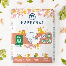 Pannolini Nappynat Ecologici 4+ Maxi Plus 14/25 kg 18 pezzi