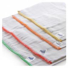 Pannolino lavabile Prefold cotone SBIANCATO SET 6 pezzi Regular