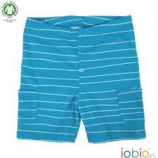 Pantaloncini azzurri in cotone biologico