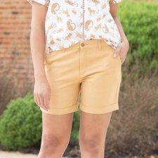Pantaloncini Donna in cotone biologico Sabbia