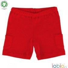 Pantaloncini rossi in cotone biologico
