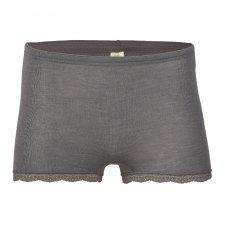 Pantaloncino donna con pizzo in lana e seta