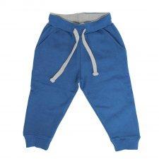 Pantalone tuta felpato blu Jago in cotone biologico