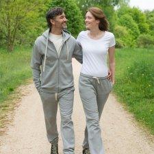 Pantaloni tuta unisex grigio in felpa di cotone biologico