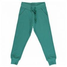 Pantalone tuta Verde lago in cotone biologico