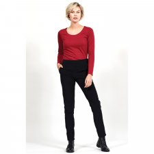 Pantaloni a Gamba Stretta in Velluto di Cotone Equosolidale