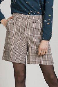Pantaloni corti GUAVA da donna in Principe di Galles, moda etica e sostenibile