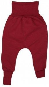 Pantaloni Crawlers in cotone biologico felpato rossi