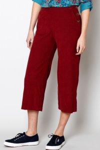 Pantaloni Cropped da donna in velluto di puro cotone