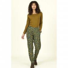 Pantaloni Foglie Batik in Lyocell Tencel
