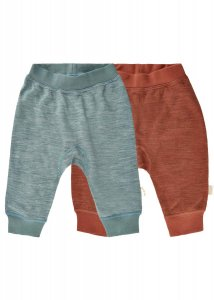 Pantaloni Harem per bambini lana fuori, bamboo dentro