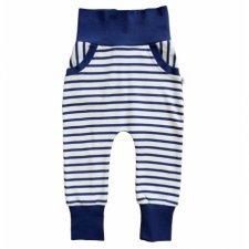 Pantaloni Harem per bambini Righe Blu 100% cotone biologico