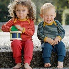 Pantaloni in lana vergine biologica