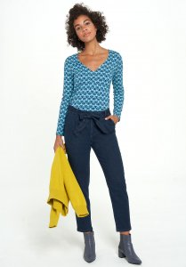 Pantaloni Jogger Jeans EDLA da donna in cotone biologico