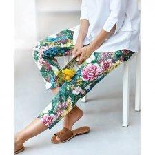 Pantaloni Leolani in Tencel con stampa floreale