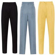 Pantaloni LILA da donna in Seta Vegetale e Viscosa sostenibile