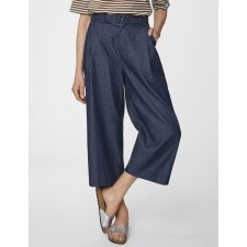 Pantaloni Paperbag Camila in Cotone Biologico Chambray