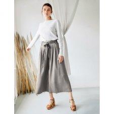 Pantaloni Paperbag Eshi Salvia in Modal e Bamboo